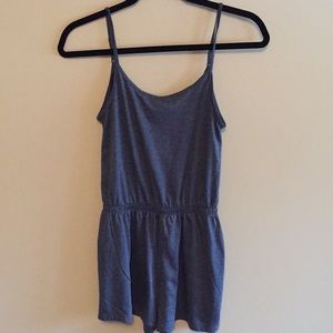 H&M Basic Blue Romper. Gently worn.
